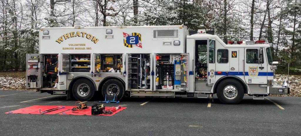 Wheaton Rescue Squad 742 Equipment Display
