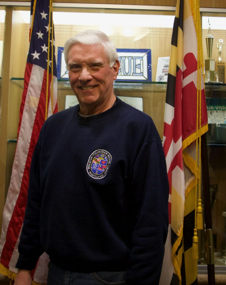 Wheaton Volunteer Rescue Squad Treasurer Bill Dunlap